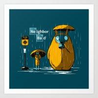 Neighbor Bad Art Print