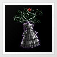 Gothic Dress Art Print