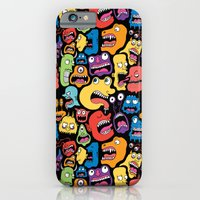 iPhone & iPod Case featuring Monster Faces Pattern by Chris Piascik