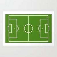 Football field fun design soccer field Art Print