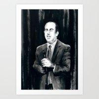 DARK COMEDIANS: Jerry Seinfeld Art Print
