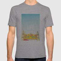 Life Is A Roller Coaster Mens Fitted Tee Athletic Grey SMALL