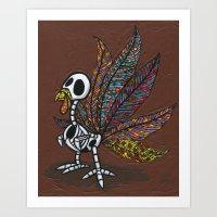 Pavo De Los Muertos Art Print