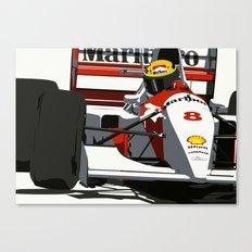 AYRTON SENNA- MONACO GRAND PRIX Canvas Print