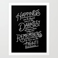 Happiness Can Be Found Art Print