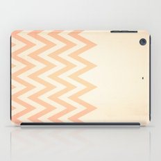 Orange Textured Chevron iPad Case