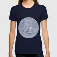 Wonderbird Womens Fitted Tee Navy SMALL
