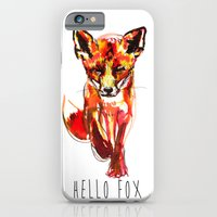 iPhone & iPod Case featuring Cute Little Red Fox water colour ink by Smog