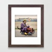 Barkin' Down the Highway! Framed Art Print