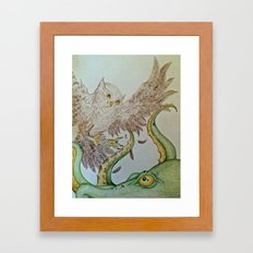 Octopus Owl  Framed Art Print