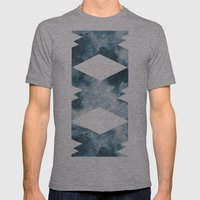 BLUE MOON Mens Fitted Tee Athletic Grey SMALL