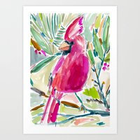 HOLIDAY CARDINAL Art Print