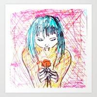 C'EST LA ROSE Art Print