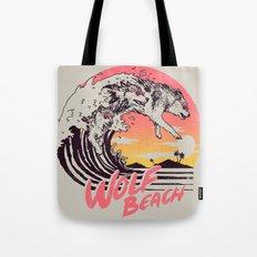 Wolf Beach Tote Bag