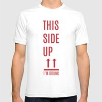 This side up Mens Fitted Tee White SMALL