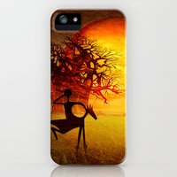 iPhone Cases featuring Visions of fire by Richard George Davis