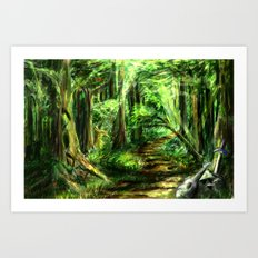The Great Gaming Forest Art Print