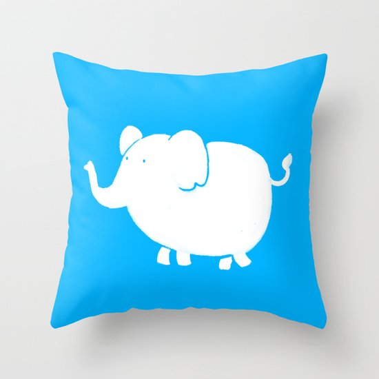 White Elephant  Throw Pillow