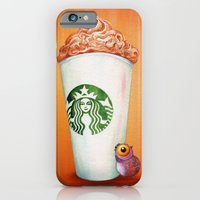Little Owl loves his Pumpkin Spice Latte iPhone 6 Slim Case