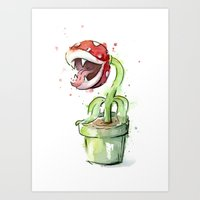 Piranha Plant Art Art Print