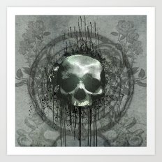 Awesome skull Art Print