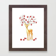 Autumn Fawn Framed Art Print