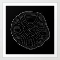 Perlin Noise Ring Lines  Art Print