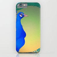 iPhone & iPod Case featuring Peacock;Dark by selinabetts