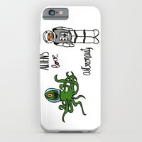 Aliens love astronauts iPhone 6 Slim Case