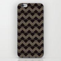 Taupe Geometric Art Deco… iPhone & iPod Skin