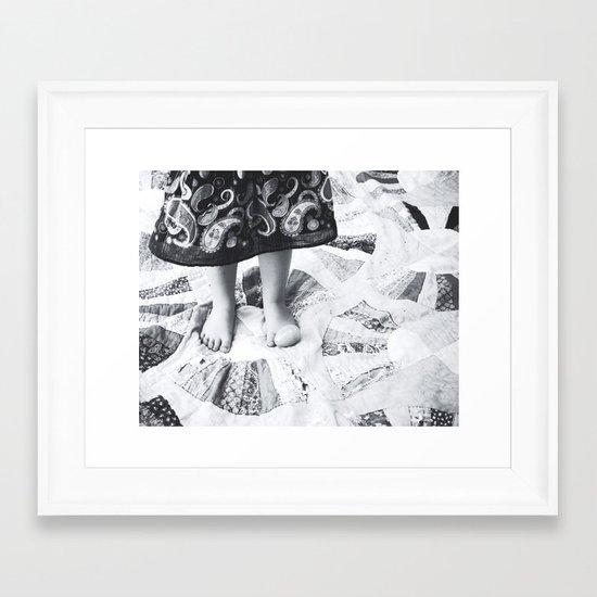 A Tisket A Tasket BW Framed Art Print