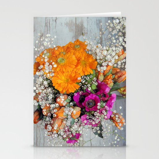Funky Floral Stationery Card