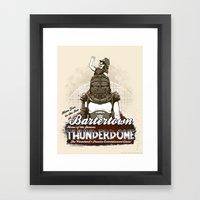 Visit Bartertown! Framed Art Print