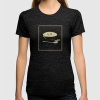 Black Sheep Cream Of Bleat Womens Fitted Tee Tri-Black SMALL