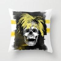 Andy POSTportrait Throw Pillow
