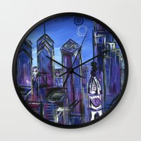 Starry Philadelphia Wall Clock
