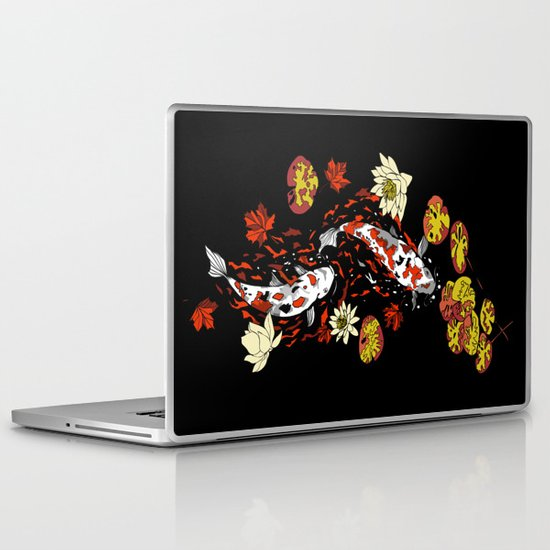 FALLING FISHES Laptop & iPad Skin