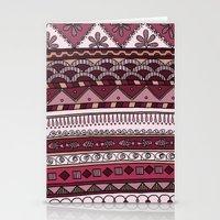 Yzor Pattern 004 Lilac Stationery Cards