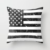 Dirty Vintage Black And … Throw Pillow