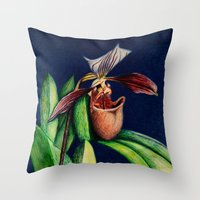Magnificent Orchid  Throw Pillow