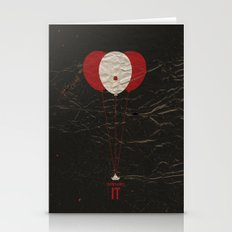 Pennywise the Clown - Stephen King's IT Inspired vintage movie poster Stationery Cards
