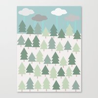 Pacific Northwest Tree and Rain Scene - Portland, PDX, Seattle, Washington, Oregon Canvas Print