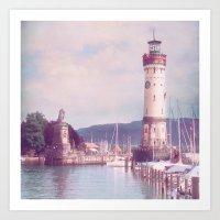 Lighthouse At Lindau, La… Art Print