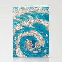 Blue Spiral Stationery Cards