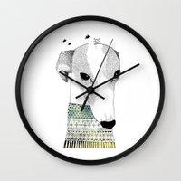Mr. Galgo Dog Wall Clock