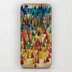 Colorful Conifers iPhone & iPod Skin