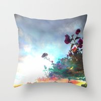 Storm Of A Green Thumb Throw Pillow