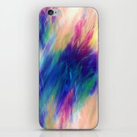 Paint Feathers In The Sk… iPhone & iPod Skin