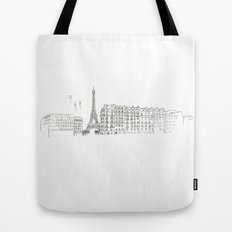 Paris Impression Tote Bag