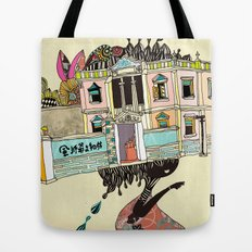 THE GIRL'S HAT Tote Bag
